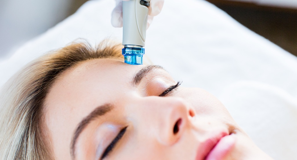 HydraFacial skin care treatment is available at Refine MD.